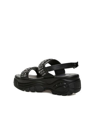 Divarese Divarese 5023052 Taşlı Kadın Sandalet Siyah